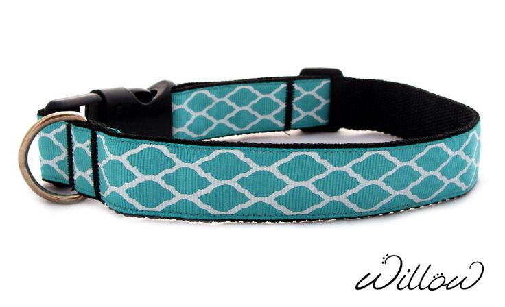 S M Turquoise Mint Dog Collar Designer Handmade Adjustable NEW Small Medium #Spaniel #BorderCollie #DesignerDog