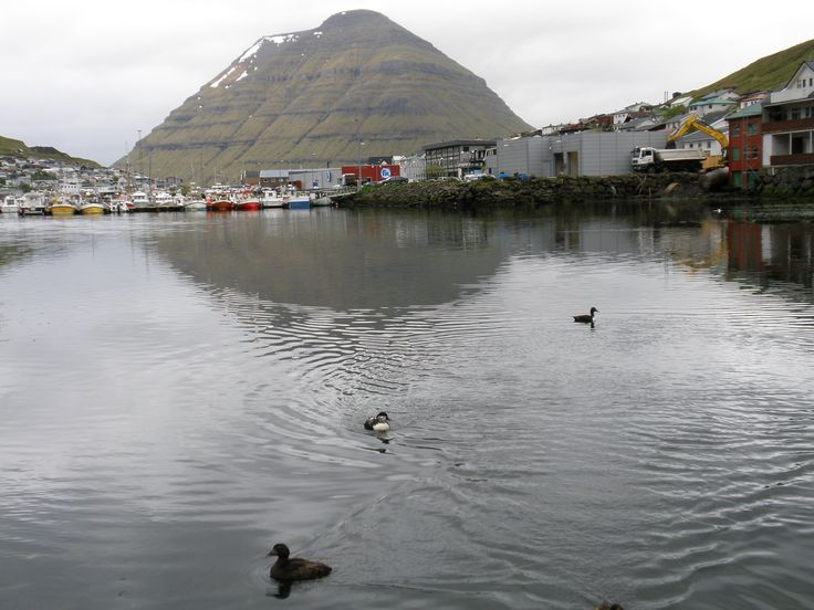 The beautiful clear, still water of Klaksvik Harbour.