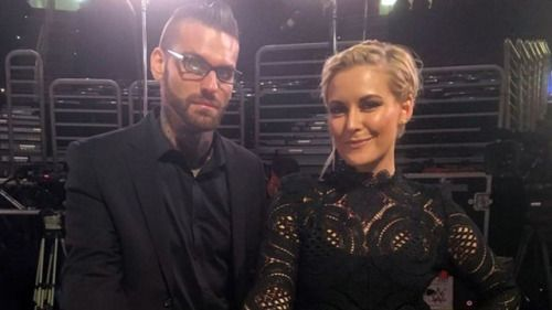 Best dressed at WWE Fastlane 2016: Corey Graves & Renee...: Best dressed at WWE Fastlane 2016: Corey Graves & Renee Young, obviously…