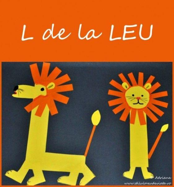 Litera L de la LEU, colaj