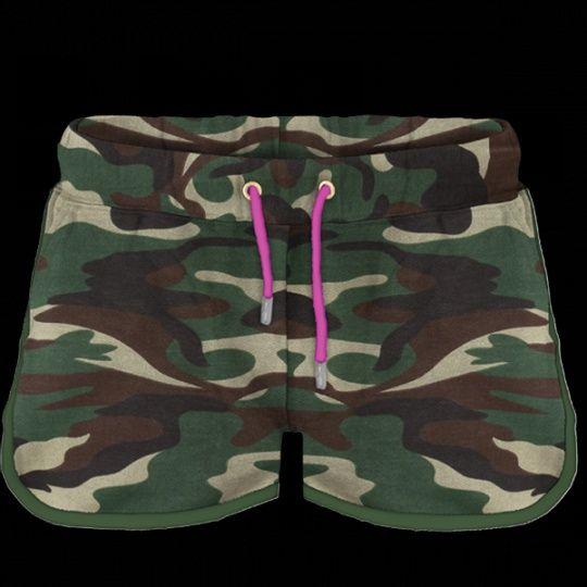 Pextex.cz - Dámské sportovní bermudy Combat Lady Paper Camouflage/ Verde