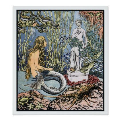 #The Little Mermaid by Ivan Bilibin Poster - diy cyo customize personalize design