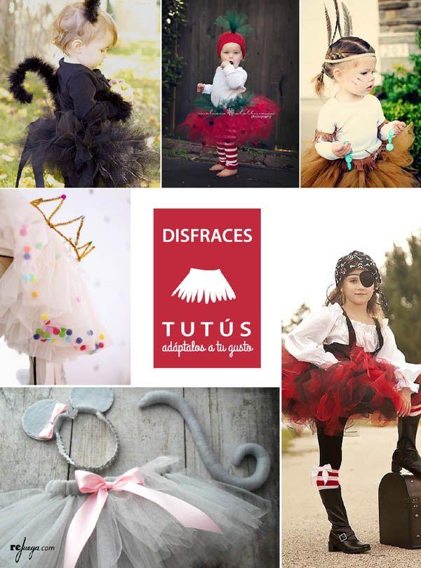 Disfraces para niños cómodos y muy fáciles de hacer. Combina tutús, chales y accesorios!!