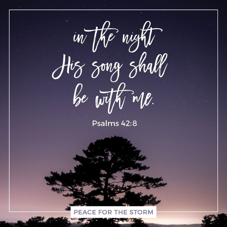 The Lord will command His lovingkindness in the daytime, and in the night His song shall be with me — a prayer to the God of my life. Psalms 42:8 (NKJV)