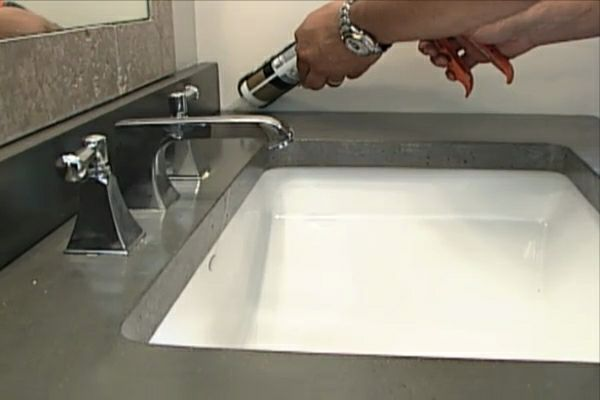 how to make a concrete countertop with sink