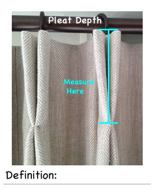 Triple Pleat Lined Curtain, Calculate Curtain Dimensions