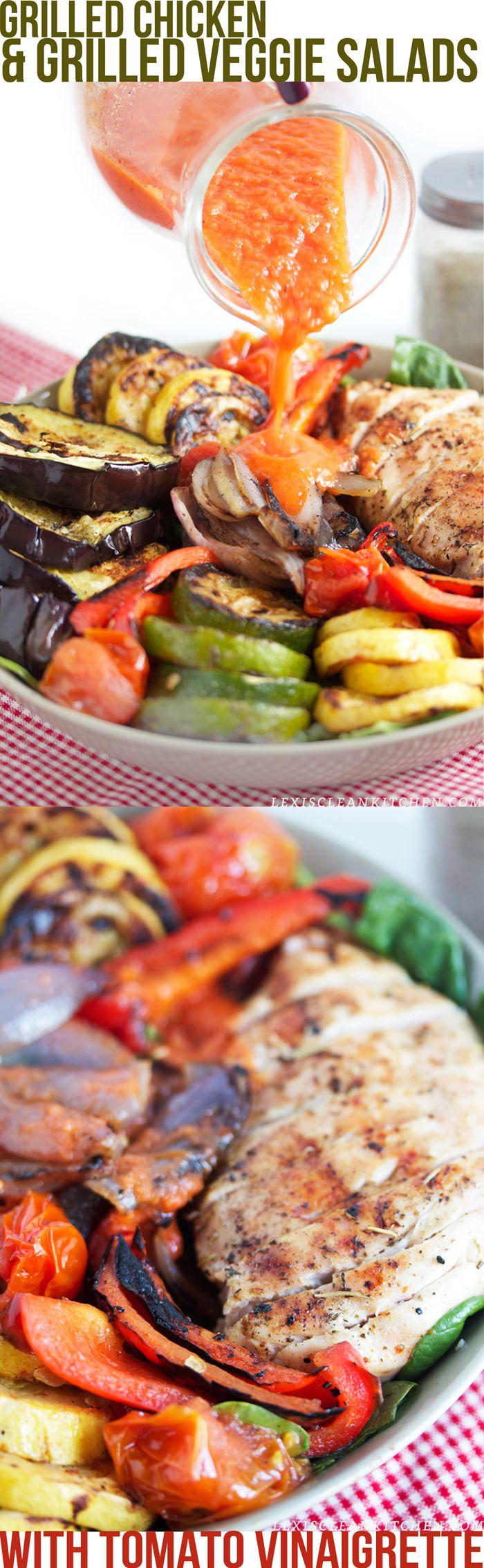 grilled chicken & veggie salad