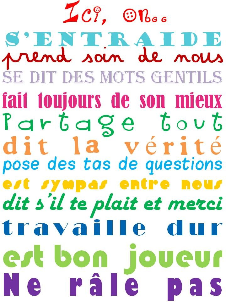 Affiche pour la porte de la salle de classe :-)