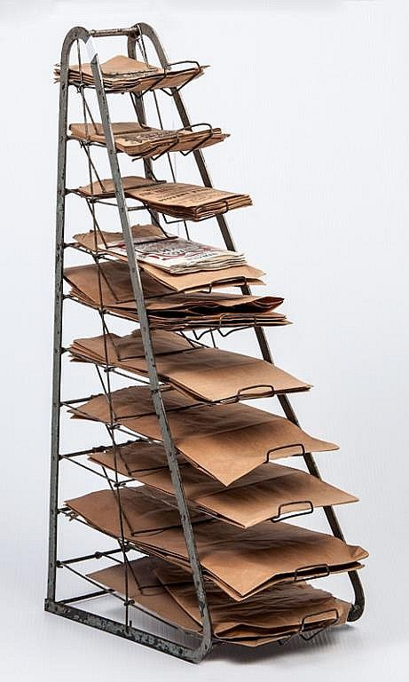 Paper bag rack from the Old General Store  - s o c o o l -
