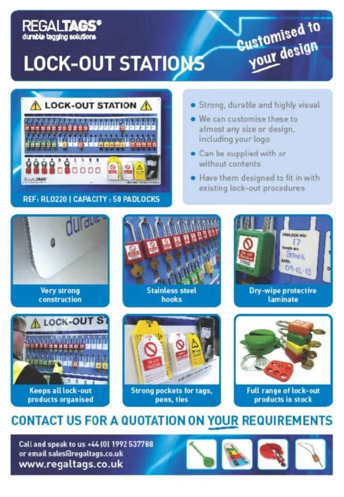 REGALTAGS Lockout Stations & Shadow Boards Lockout