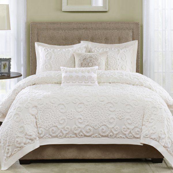 Suzanna 3 Piece Cotton Comforter Set Comforter Sets Cotton Comforter Set Bedding Sets