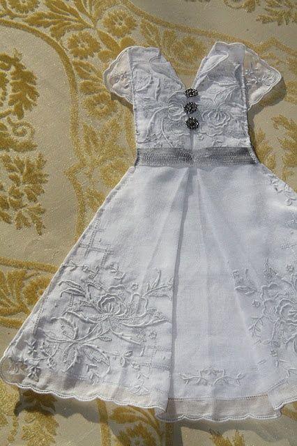 crafts vintage hankerchiefs | recycled vintage handkerchief | Craft Ideas