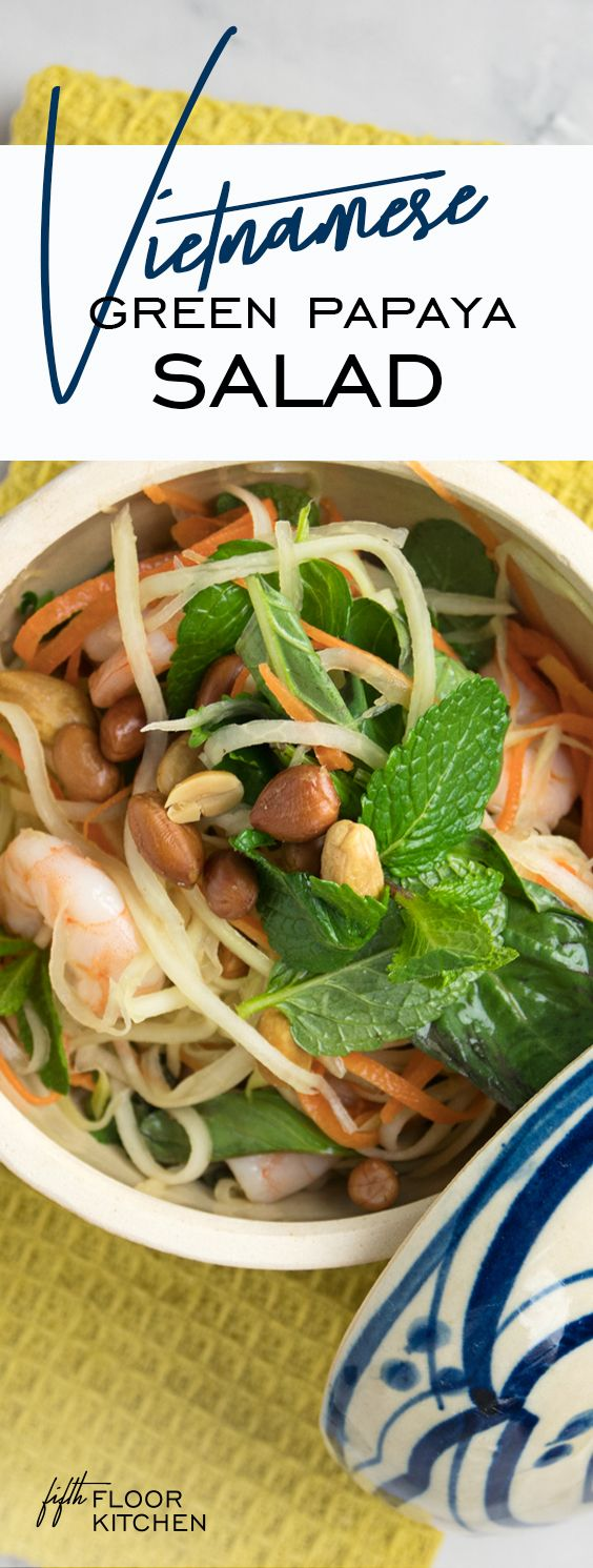 One of my favourite dishes in Vietnam must be the Vietnamese green papaya salad.
