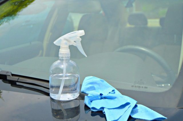 This homemade auto glass cleaner will leave your car's windows and windshield clean and streak free so you see well and drive safely.
