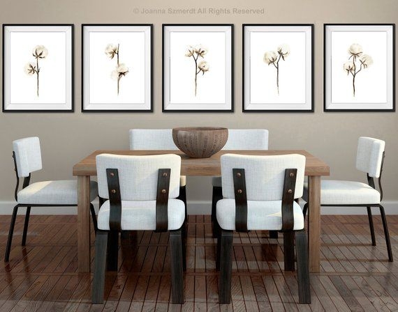 Cotton Painting Set 5 Wall Art Prints Brown Beige Taupe Canvas Etsy White Wall Decor Brown Home Decor Home Decor