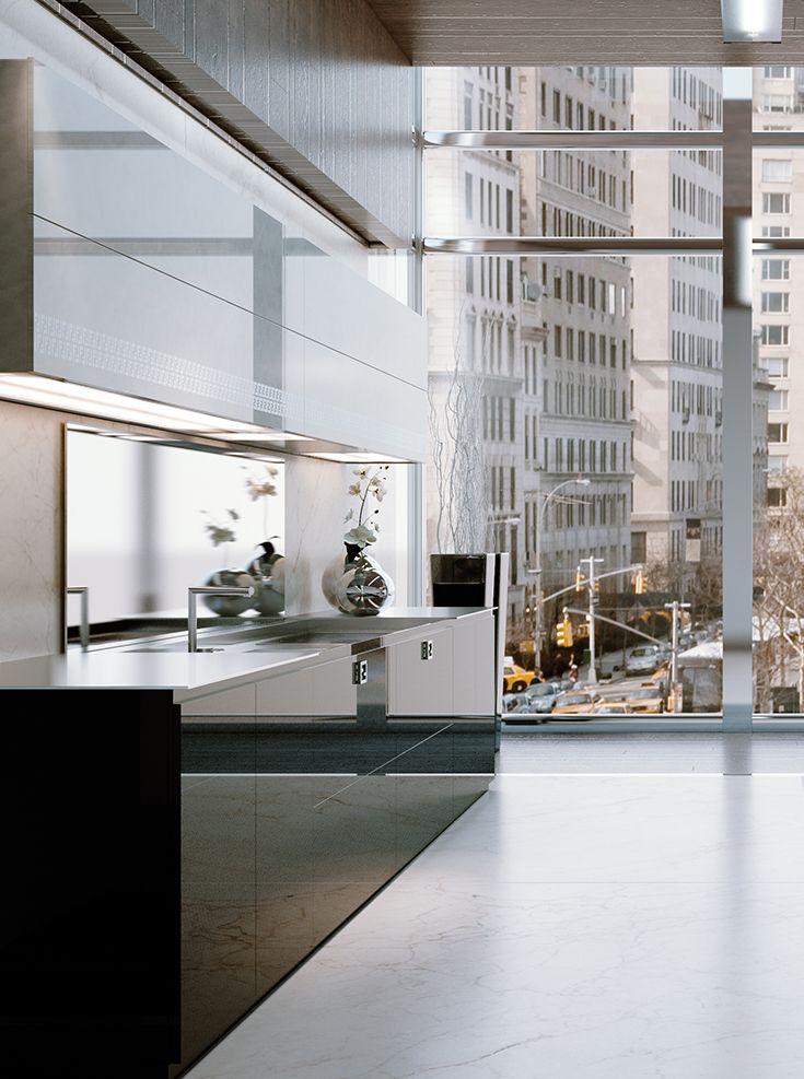Fendi Casa Ambiente Cucina views from Luxury Living new showroom in Miami Design Destrict #MiamiDesignDistrict