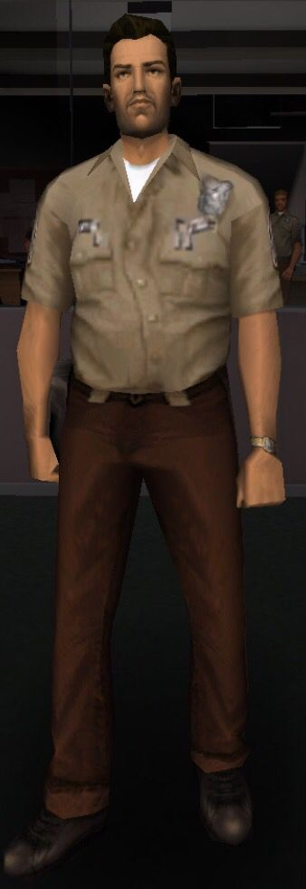 Tommy Vercetti's cop outfit, unlocked after completing the mission Cop Land