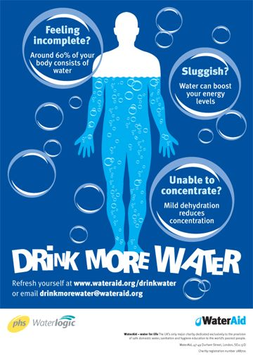 WATER - Incomplete, sluggish, unable to concentrate? - Drink more Water! - See link: http://www.foodpyramid.com/6-essential-nutrients/water/ #drinkmorewater #nutrient #nutrition