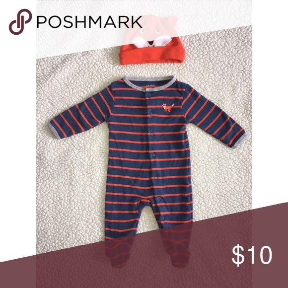 Foxy This comfy outfit will be perfect for those cloudy days! Carter's One Pieces Footies