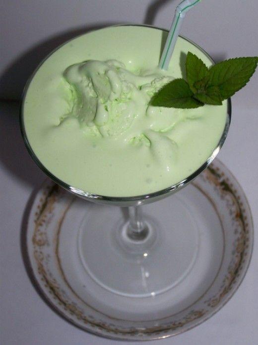 Make Ahead Grasshopper Ice Cream Drink Recipe. Just Freeze It.