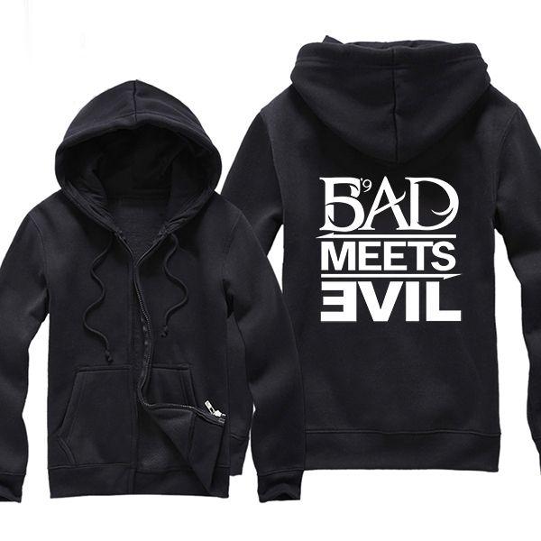 ==> [Free Shipping] Buy Best Rap Singer Eminem D12 Bad Meets Evil Logo Letter Print Men Hoodie Hooded Sweatshirt Printed Hoodies and Sweatshirts Zipper Online with LOWEST Price | 32586107728