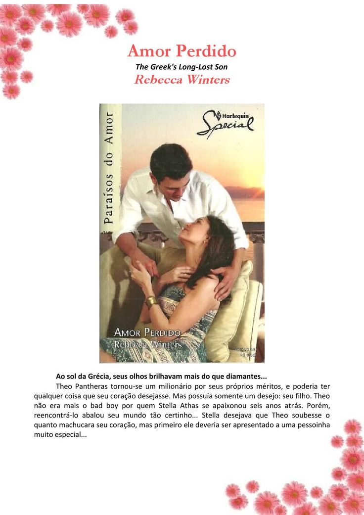 Rebecca winters amor perdido (special 53)