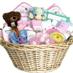 Best 25 holiday gift baskets ideas on pinterest gift basket deluxe baby gift basket pink for girls shower or christmas holiday gift idea for solutioingenieria Images