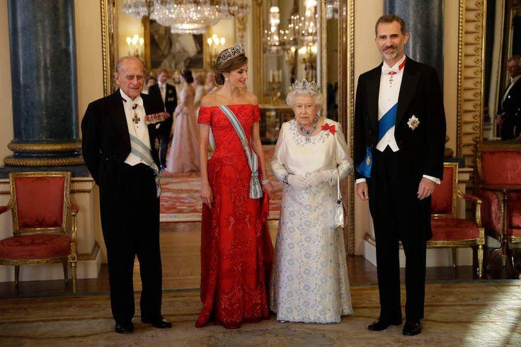 Dîner d'état à Buckingham Palace pour la venue du roi Felipe VI et son épouse Letizia
