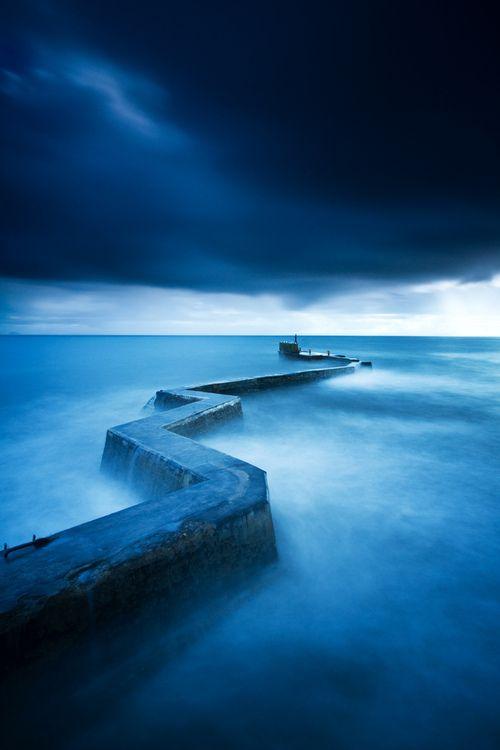 St Monans' Zig Zag Breakwater - Fife, Scotland (by Simon Cameron)