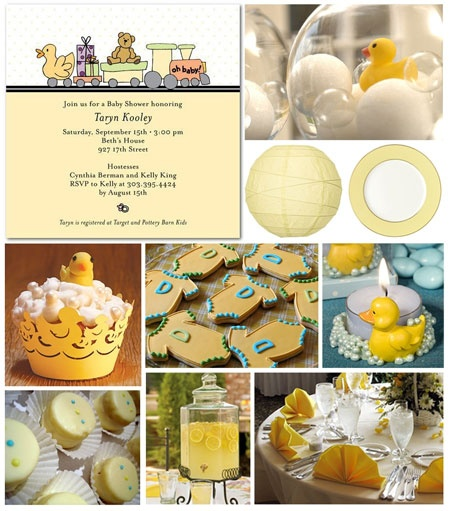 Rubber Ducky Baby Showers