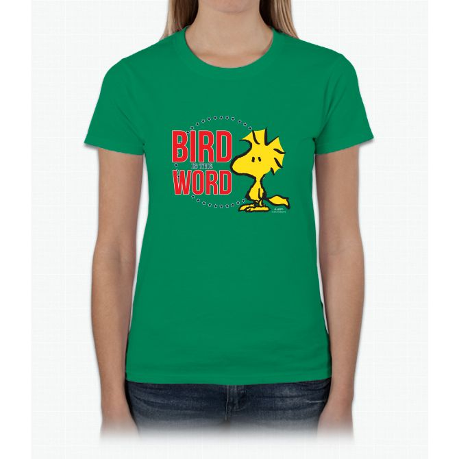 Bird Is The Word Linus Peanuts Ladies T-Shirt