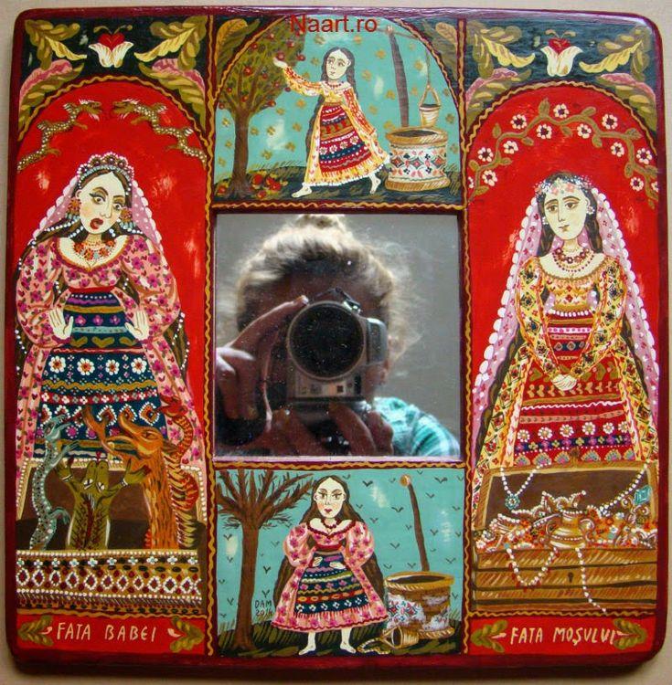 Folk tales #folkart #fairytale #mirror #naiveart