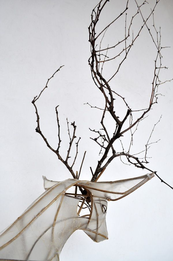 Deer sculpture / Emily JanArtists Emily, Animal Installations, Art Crafts, Acacia Branches, Zip Ties, El Cazadero, Deer Sculpture, Emily Jan, Fiber Art