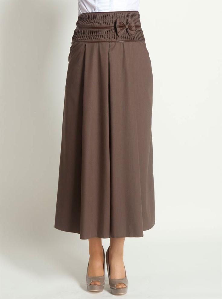 Bow bodice Skirt 628 - Coffee - Shee