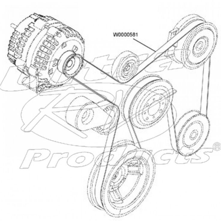 Cat Engine Serpentine Belt Diagram