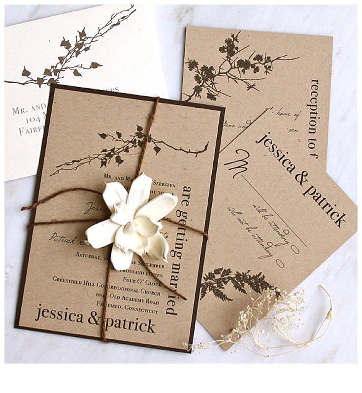 21 best Wedding Invitations images on Pinterest | Invitations, Paper ...