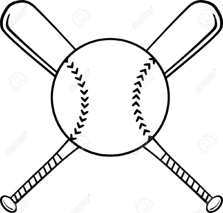 Softball ball and bat clipart - ClipartFox