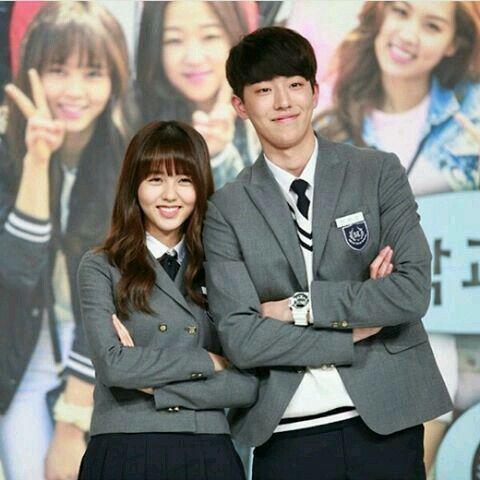 Nam Joo Hyuk and Kim So Hyun together in School 2015