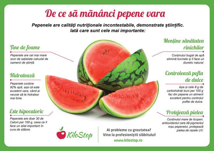 Pepenele este excelent în cura de slăbire. În plus, are calități nutriționale de invidiat.  #pepene #fructe #dieta