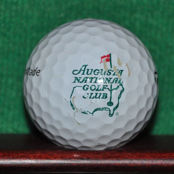 Augusta National Golf Club logo golf ball. Home of the Masters. TaylorMade Tour…