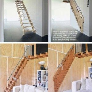 Bcompact Hybrid stairs and ladders that fold up to save space. I need this for my little garage!