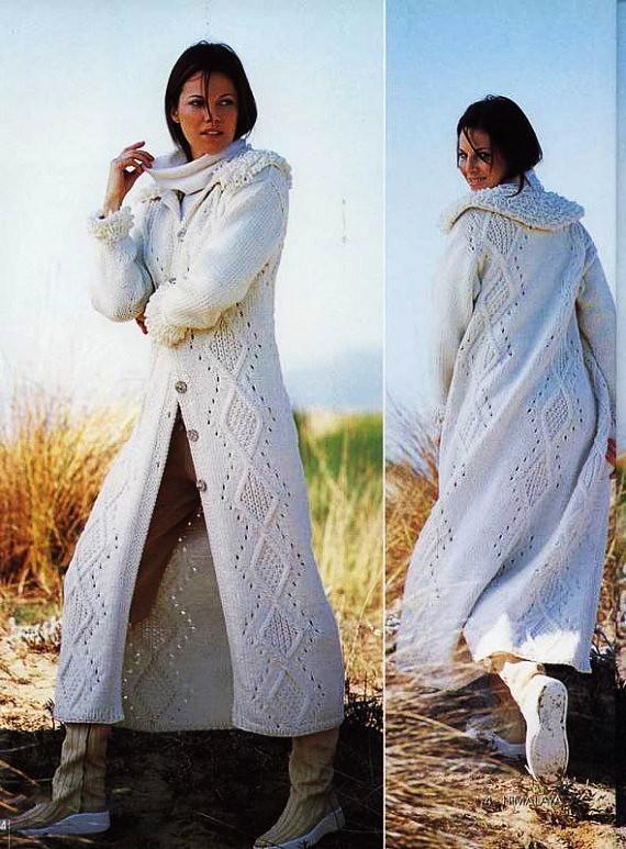 Womens Hand Knit Wool Coat.38F