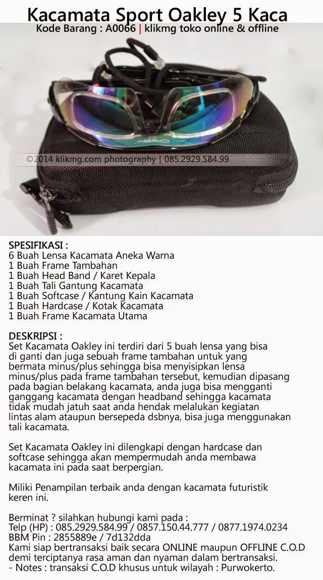 Kacamata Sport Oakley 5 Kaca - Kode Barang : A0066   klikmg toko online & offline