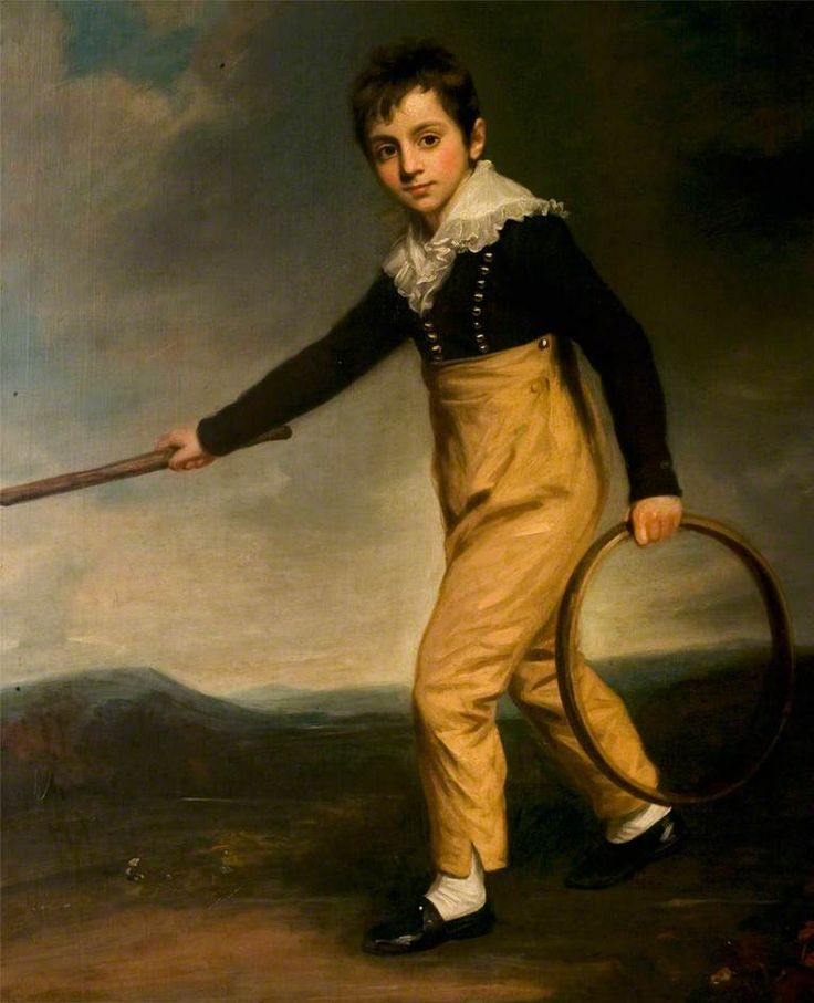 Boy with a Hoop  by John Opie       Oil on canvas, 145 x 118 cm  Collection: Leicester Arts and Museums Service