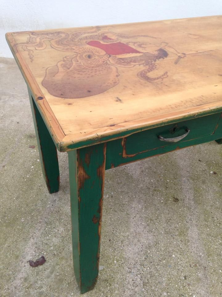 green table octopus