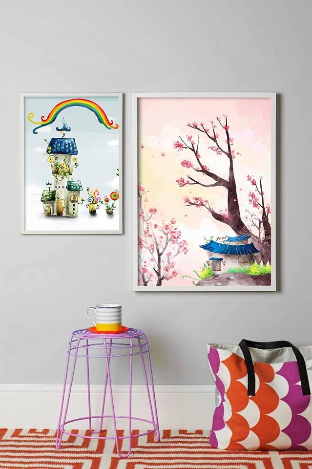 Μια πρόταση Pink & Blue για το παιδικό δωμάτιο!  Πίνακας σε καμβά: http://www.houseart.gr/select_use.php?id=80&pid=8586  #houseart #canvas #boy #girl #kids_room #decoration #ideas