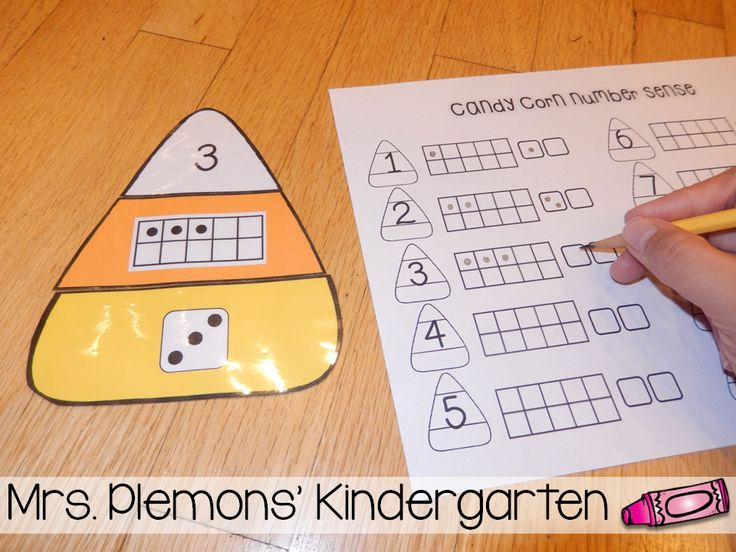 Candy Corn Number Match - a simple center with 3 different options for differentiation. Students practice matching the different numbers in written, ten frame, and dice form. Students can match numbers 1-10, 11-20, or all of the numbers 1-20 depending on their ability.