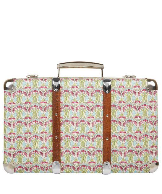 Mauverina Liberty Print Miniature Suitcase