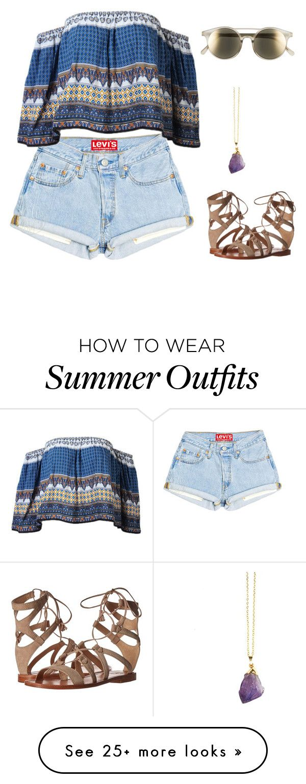 """""""Boho summer outfit"""" by macy-hermann on Polyvore featuring Le Specs and Frye"""