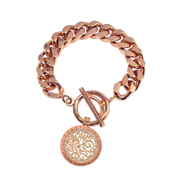 Nikki Lissoni Rose Gold Plated Bracelet To Suit Pendants And Coins 21cm. code:BFP03RG21